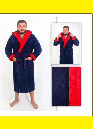 Мужской мягкий махровый халат