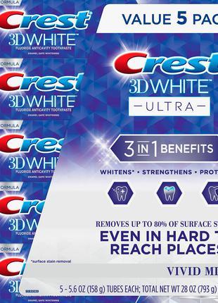 Зубная паста crest 3d white ultra158 г оригинал