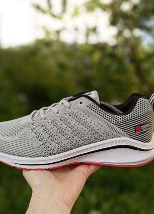 Мужские кроссовки Classica сетка,текстиль для бега и спорта