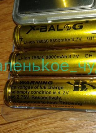 Аккумуляторная Батарейка Li-Ion XBalong 4.2V 18650 (Gold) емкость