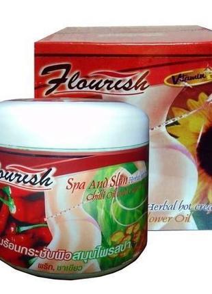 Жгучий Антицеллюлитный Крем С Чили Маслом И Зеленым Чаем. Таиланд