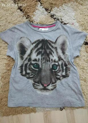 Фирменная футболка h&m с 3д принтом на подростка или на м-л (м...