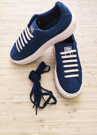 Оригинальные замшевые кроссовки на платформе puma