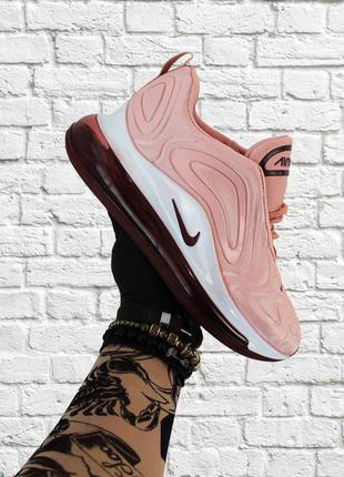 Кроссовки nike air max 720 pink white