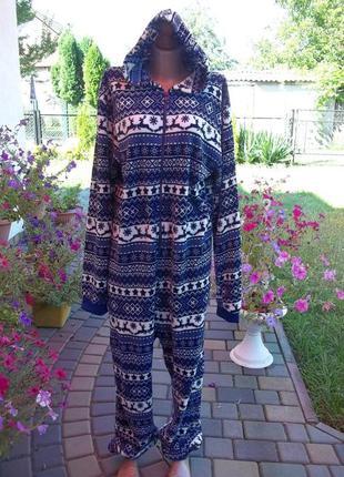 (50 / 52 р) флисовый комбинезон пижама кигуруми кігурумі мужск...
