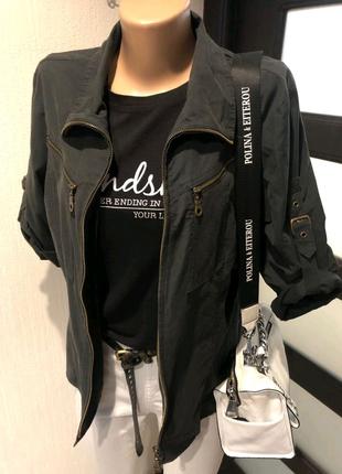 Стильная черная рубашка кофточка блузка пиджак жакет