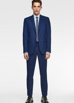 Синий мужской пиджак zara man