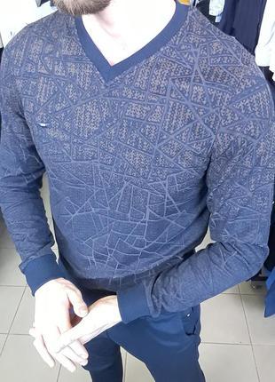 Джемпер мужской / свитер мужской хлопковый