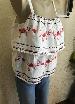 Красивая  блуза хлопок с вышивкой