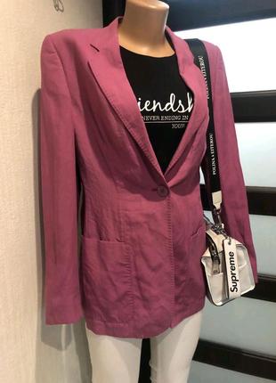 Льняной тонкий пиджак жакет блейзер кардиган накидка