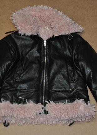 Женская куртка косуха на меху