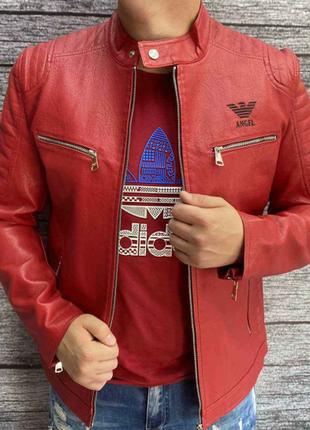 Мужская кожаная куртка мкож001ва