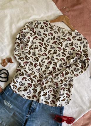 Шикарная блуза в хамелеоны h&m / 36 - 8 - s
