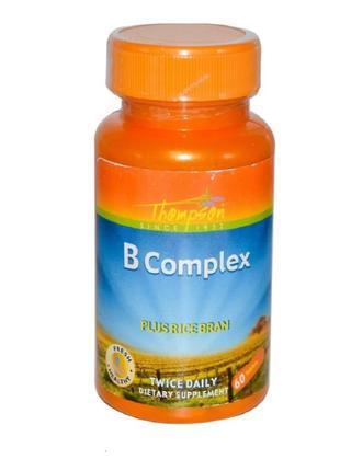 Thompson, Комплекс витаминов группы B с рисовыми отрубями (iHerb)