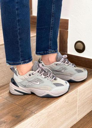 Nike m2k tekno atmosphere grey женские кроссовки найки серого ...