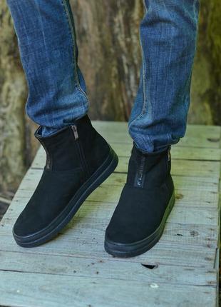 Нубуковые ботинки от производителя flamanti, нубукові черевики...
