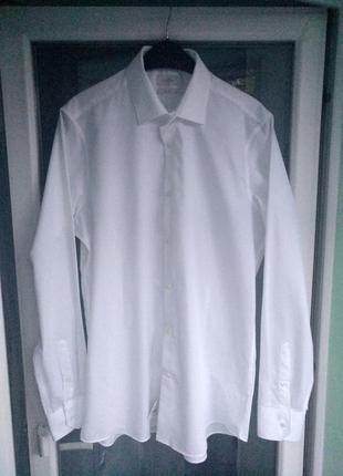 "Рубашка мужская ""next"" slim р.xl/xxl р.42(16,5) белая зауженная"