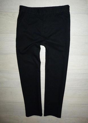 Черные школьные брюки, штаны f&f 10-12 лет