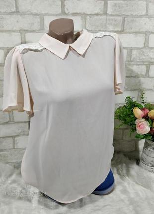 Блуза шифон,нежно-розового нюдового  цвета atmosphere