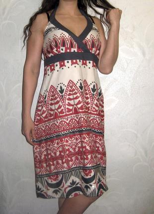 Платье сарафан debenhams индия разноцветное узор рисунок как в...
