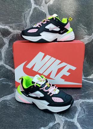 Модные кроссовки nike m2k tekno кожаные,осенние