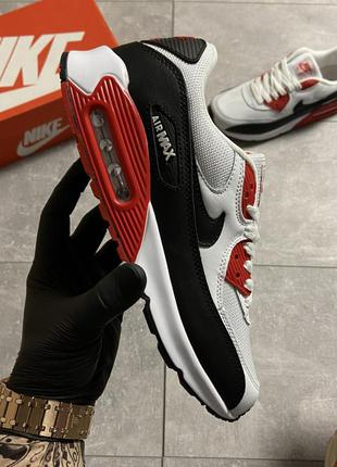 Кроссовки nike air max 90 red/white
