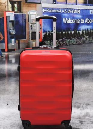 Чемоданы поликарбонат средний fly 960 red новинка Польша
