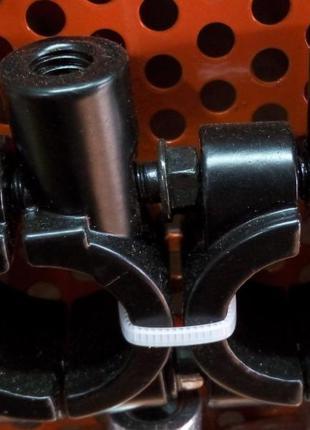 Хомут ручки + держатель зеркала 8 мм (хром,черный) 2 штуки компл.
