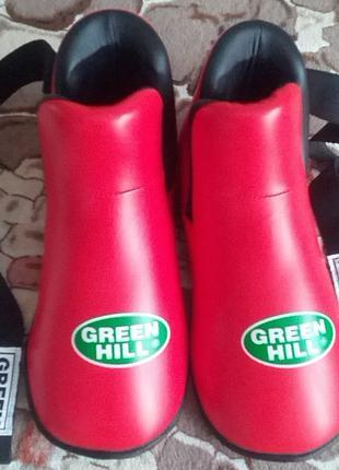 Футы Green Hill для кикбоксинга, тхэквондо, единоборств, защита