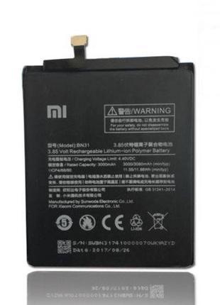 Аккумулятор Xiaomi BN31 для Xiaomi Mi A1, Mi5X, Redmi Note 5A