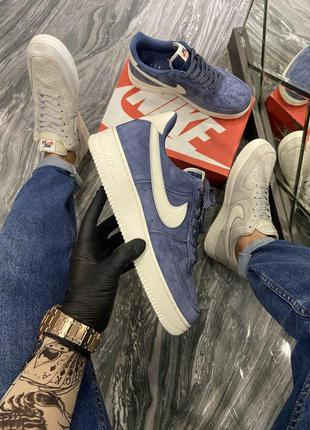 Мужские кроссовки🔺nike air force luxury suede blue🔺
