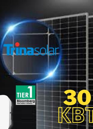 Сонячна електростанція 30кВт під зелений тариф