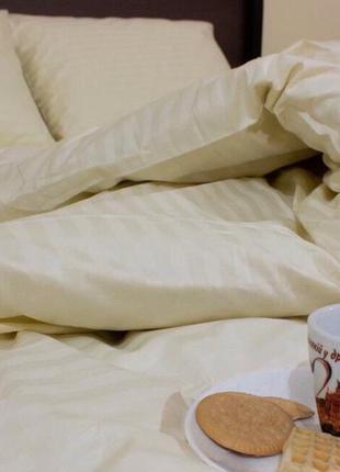Постельное постельное бельё из страйп-сатина