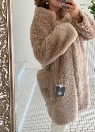 Шуба длинноворсная - натуральный мех овцы, стильнейший фасон с...
