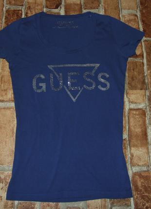 Хлопковая стильная футболка девочке 13 - 14 лет guess