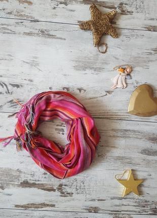 Яркий легкий шарфик платок