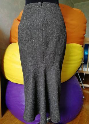 Юбка бленд с шерстью, ангорой и вискозой