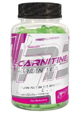 Trec Nutrition L-CARNITINE + GREEN TEA, 90 капс
