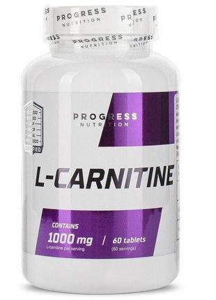 Progress Nutrition L-Carnitine 1000мг - Жиросжигатель Л-Карнитин