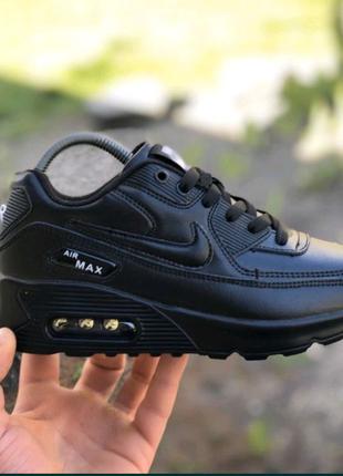 Кроссовки  Nike Air Max 90,черные найк Аир макс
