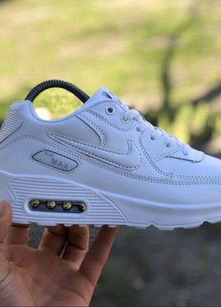 Женские, подростковые Найк Аир Макс 90,белые Nike Air Max 90