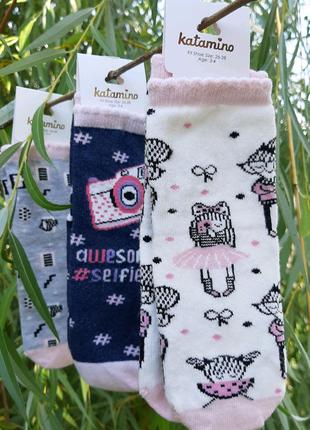Хлопковые носки для девочек