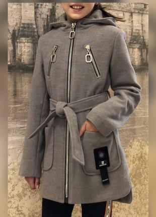 Кашемировые пальто для девочки на рост от 128 до 152