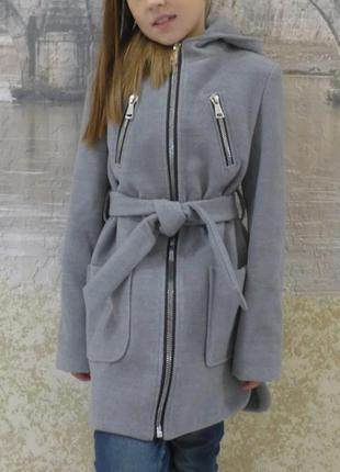 Кашемировые пальто для девочки 128-152
