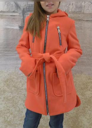 Пальто кашемировое детское 128-152