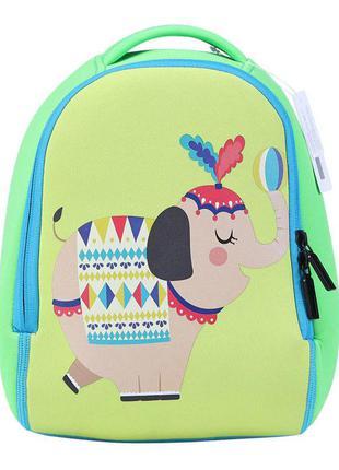 Детский рюкзак, зеленый. слон.
