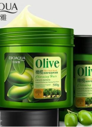 Оливковая Маска для волос Bioaqua Olive Hair Mask 500 г.