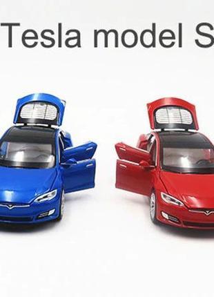 Tesla Model S \ Тесла S 100D. Масштабная металлическая модель ...