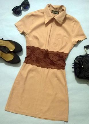 Платье сарафан гипюр кружево на молнии