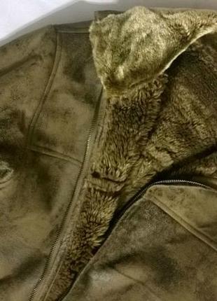 Мужская теплая дубленка куртка